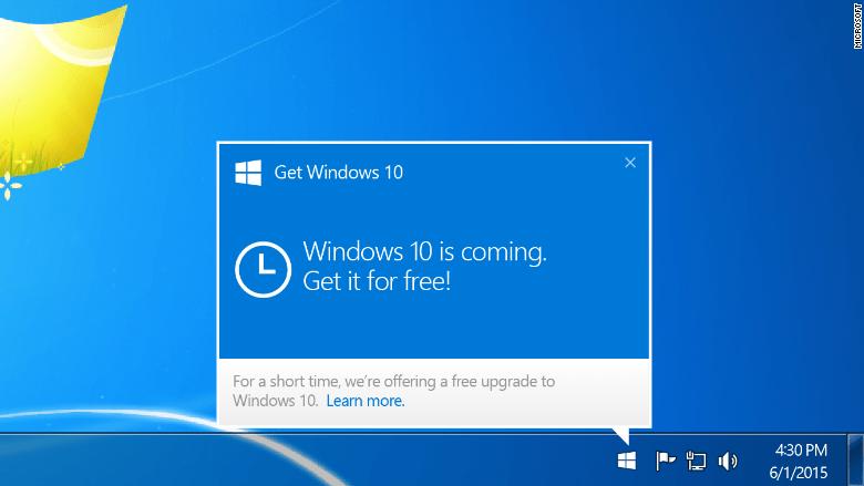 Уведомление об обновлении Windows