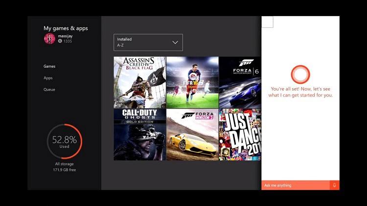 Cortana в Xbox One