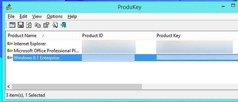 Программа ProducKey