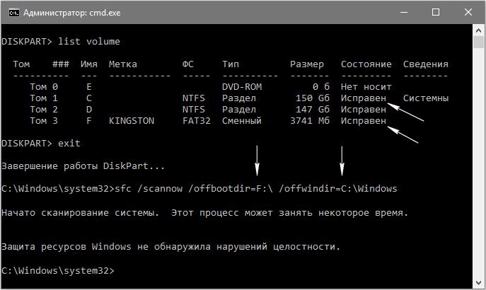 Сканирование целостности системных файлов