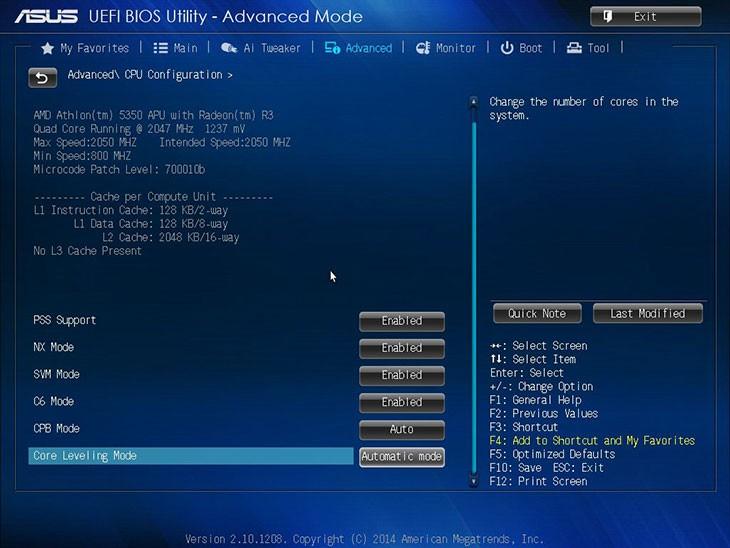 Интерфейс UEFI на Asus