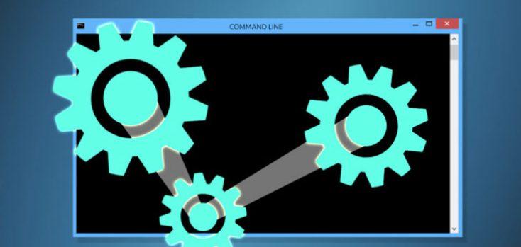 Виртуальный механизм на фоне командной строки