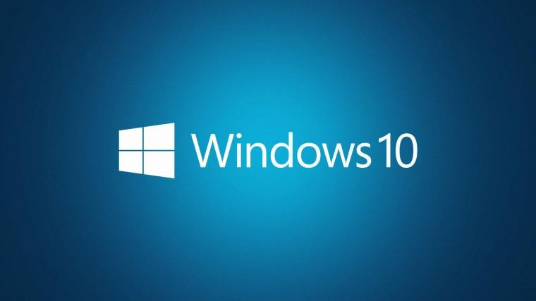 Логотип windows 10 на синем фоне