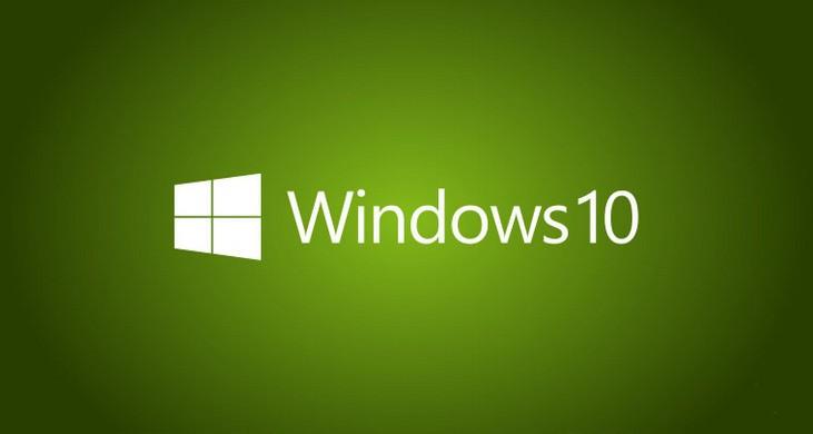 Логотип windows 10 на зелёном фоне