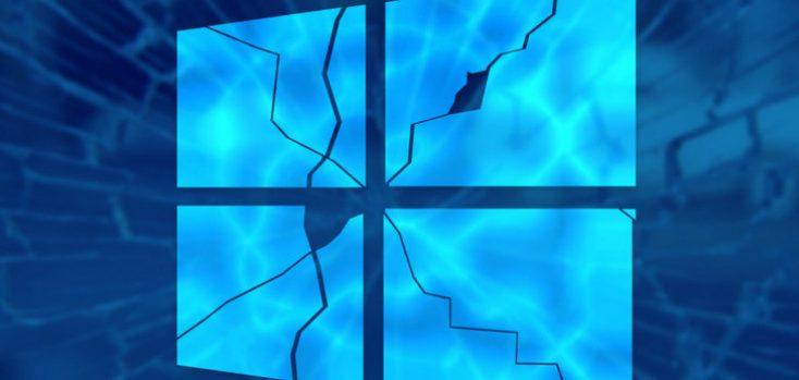 Расколотый логотип windows 10