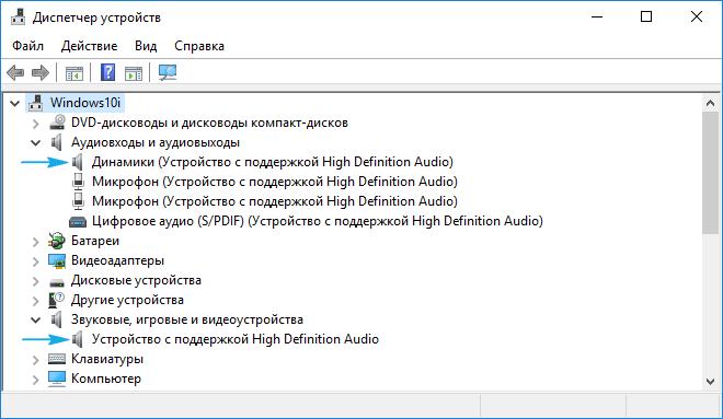 Информация по аудиовходам и аудиовыходам