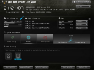 Проверка температуры в UEFI