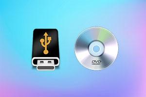 Флешка и dvd диск