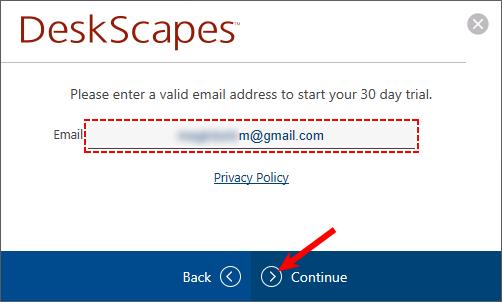 Активация DeskScapes