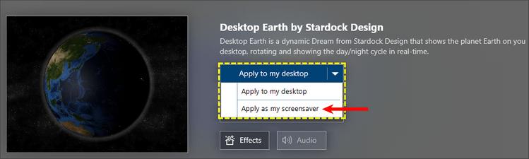 Выбор обоев для экрана блокировки DeskScapes