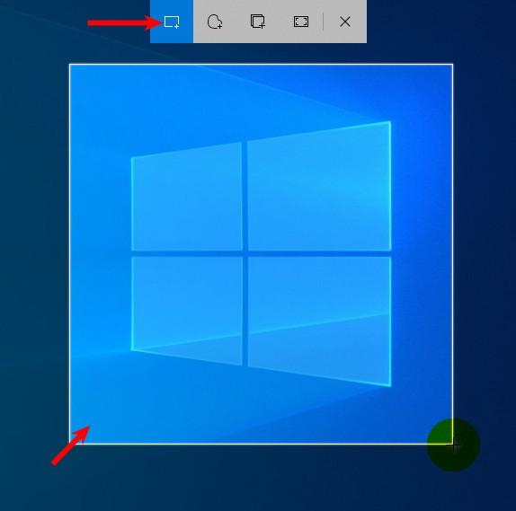 Создание скриншота в программе набросок на фрагмент